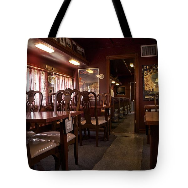 1947 Pullman Railroad Car Dining Room Tote Bag by Thomas Woolworth