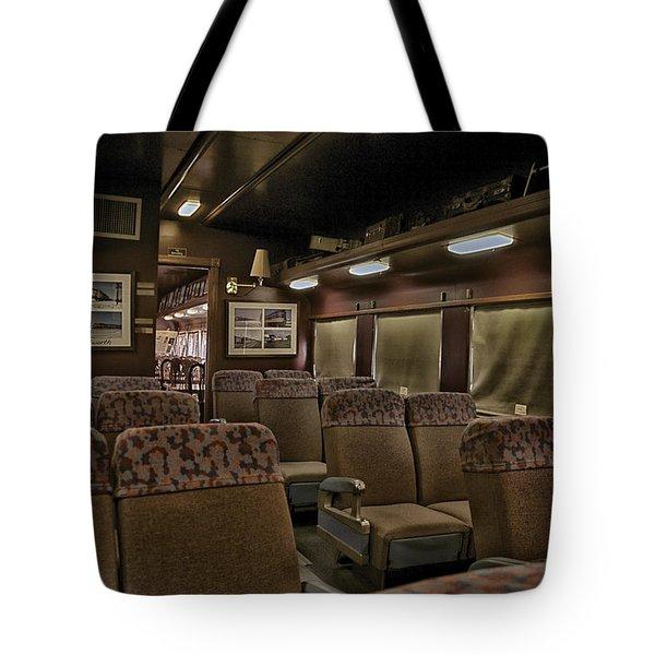 1947 Pullman Railroad Car Interior Seating Tote Bag by Thomas Woolworth