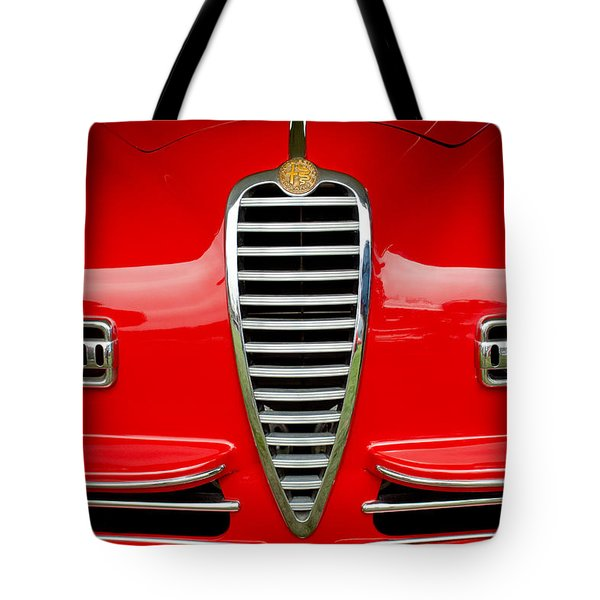 1949 Alfa Romeo 6c 2500 Ss Pininfarina Cabriolet Grille Tote Bag by Jill Reger