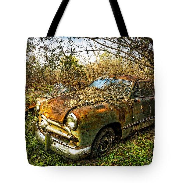 1949 Ford Tote Bag by Debra and Dave Vanderlaan