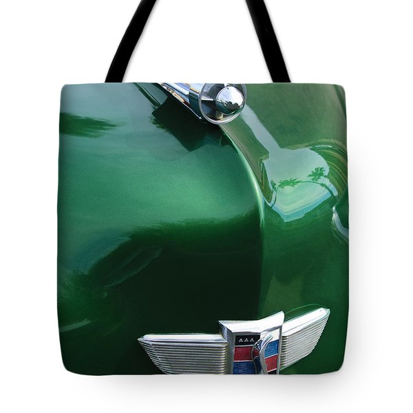 1949 Studebaker Champion Hood Ornament Tote Bag by Jill Reger