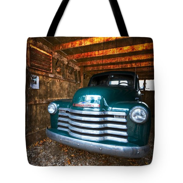 1950 Chevy Truck Tote Bag by Debra and Dave Vanderlaan