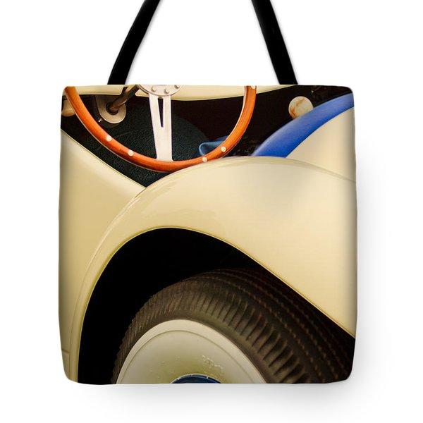 1950 Eddie Rochester Anderson Emil Diedt Roadster Steering Wheel Tote Bag by Jill Reger