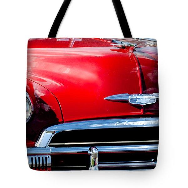 1951 Chevrolet Grille Emblem Tote Bag by Jill Reger
