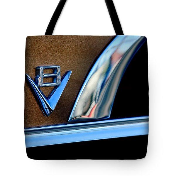 1951 Ford Crestliner V8 Emblem Tote Bag by Jill Reger