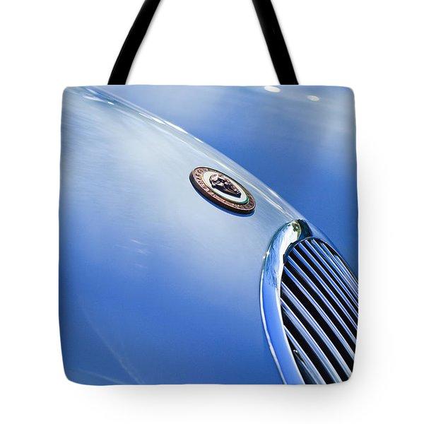 1951 Jaguar Grille Emblem Tote Bag by Jill Reger