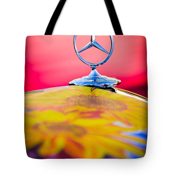 1952 Mercedes-benz 220 A Cabriolet Hood Ornament Tote Bag by Jill Reger