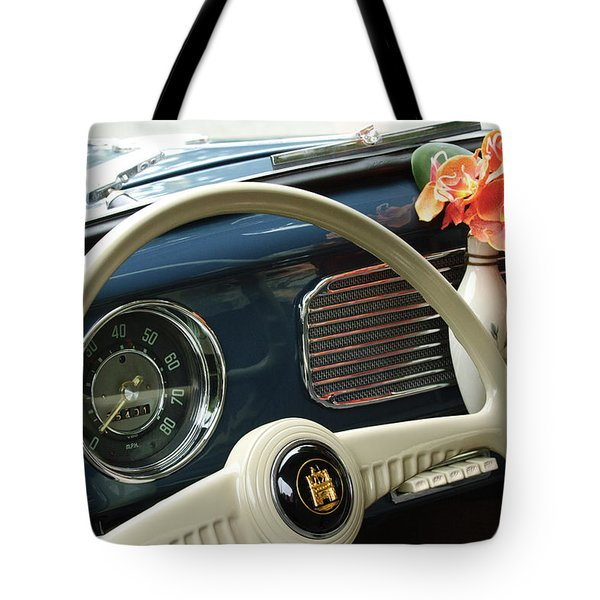 1952 Volkswagen VW Bug Steering Wheel Tote Bag by Jill Reger