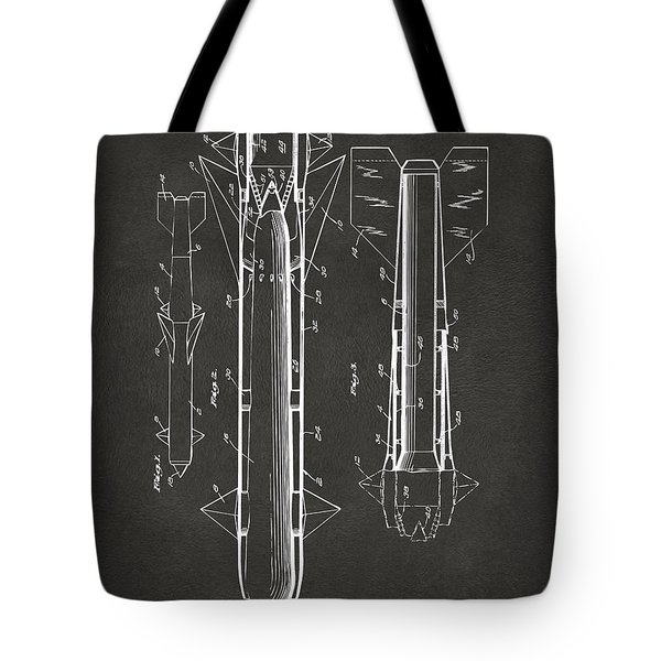 1953 Aerial Missile Patent Gray Tote Bag by Nikki Marie Smith