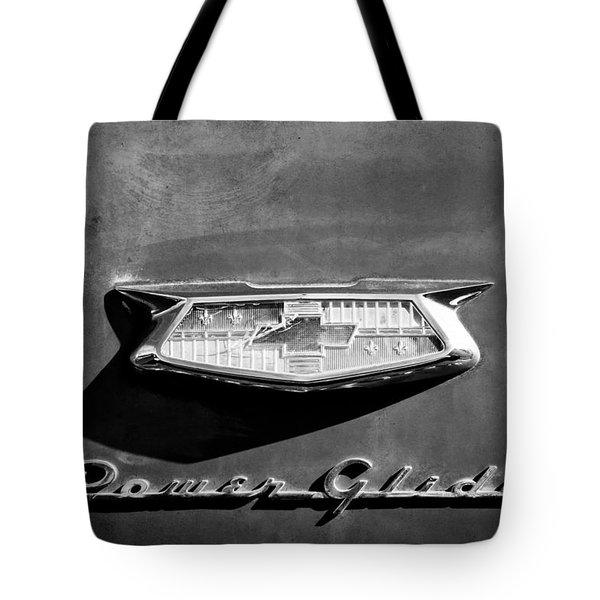 1954 Chevrolet Power Glide Emblem Tote Bag by Jill Reger