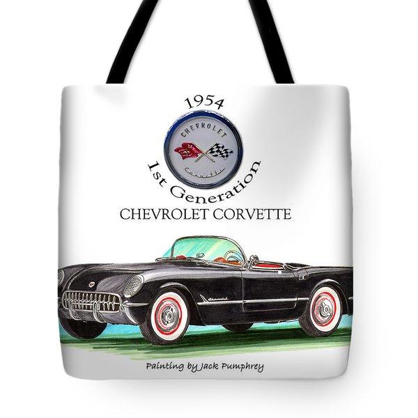 1954 Corvette First Generation Tote Bag by Jack Pumphrey