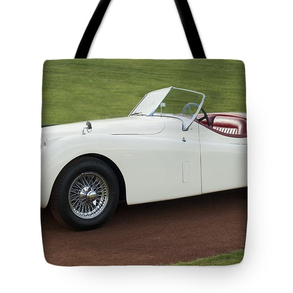 1954 Jaguar Xk120 Roadster  Tote Bag by Jill Reger