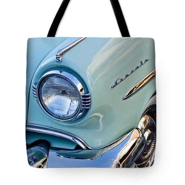 1954 Lincoln Capri Headlight Tote Bag by Jill Reger