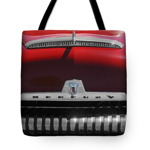 1954 Mercury Monterey Hood Ornament Tote Bag by Jill Reger