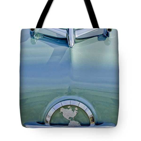 1954 Oldsmobile Super 88 Hood Ornament Tote Bag by Jill Reger