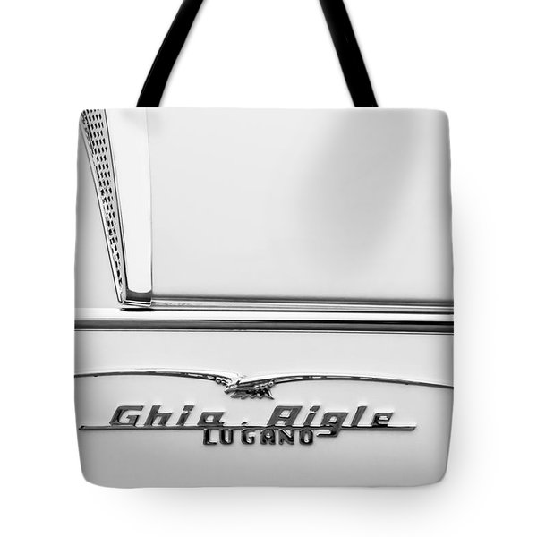 1955 Alfa Romeo 1900 Css Ghia Aigle Cabriolet Grille Emblem - Super Sprint Emblem -2266bw Tote Bag by Jill Reger