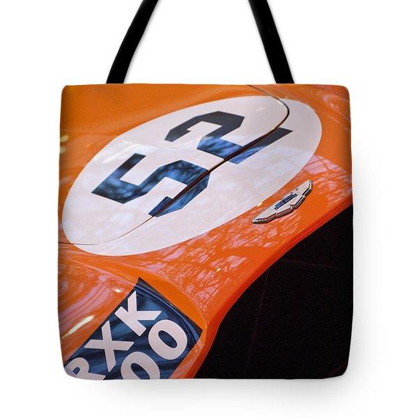 1955 Aston Martin Db3s Sports Racing Car Hood Tote Bag by Jill Reger