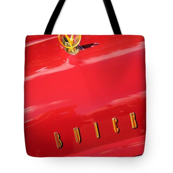 1955 Buick Roadmaster Hood Ornament - Emblem Tote Bag by Jill Reger