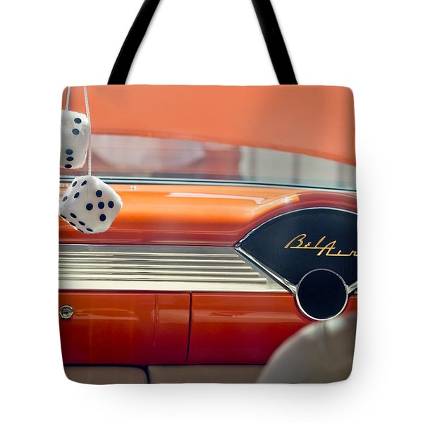 1955 Chevrolet Belair Dashboard Tote Bag by Jill Reger