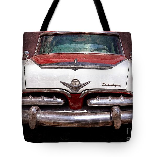 1955 Dodge In Oil Tote Bag by Steve Kelley