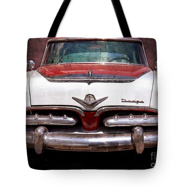 1955 Dodge in Oil Tote Bag by Steve Kelley