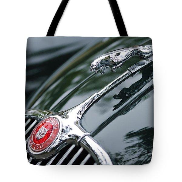 Jaguar XK 150 Hood Ornament  Tote Bag by Jill Reger