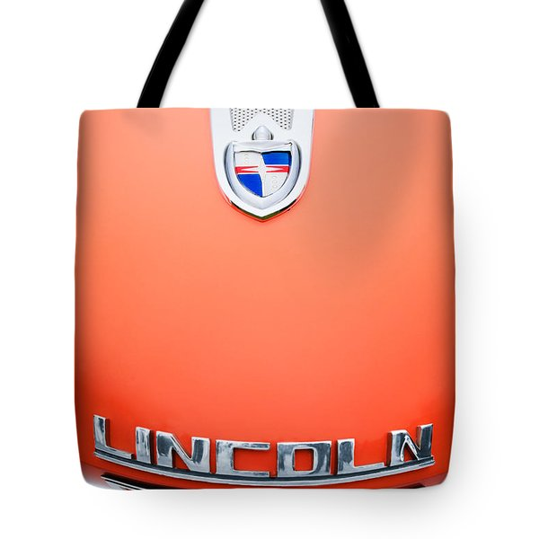 1955 Lincoln Indianapolis Boano Coupe Emblem Tote Bag by Jill Reger