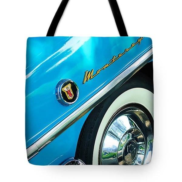 1955 Mercury Monterey Wheel Emblem Tote Bag by Jill Reger