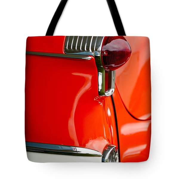 1955 Oldsmobile Taillight Tote Bag by Jill Reger