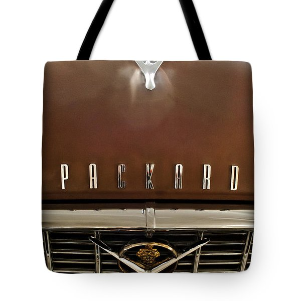 1955 Packard 400 Hood Ornament Tote Bag by Jill Reger