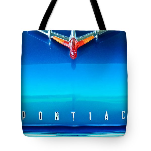 1955 Pontiac Safari Hood Ornament 4 Tote Bag by Jill Reger