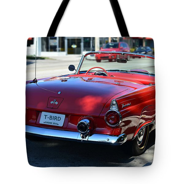 1955 t-bird Tote Bag by Laura  Fasulo