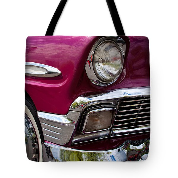1956 Chevy Bel Air Tote Bag by David Patterson