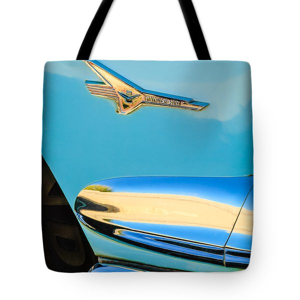 1956 Ford Fairlane Thunderbird Emblem Tote Bag by Jill Reger