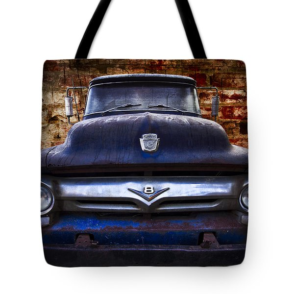1956 Ford V8 Tote Bag by Debra and Dave Vanderlaan