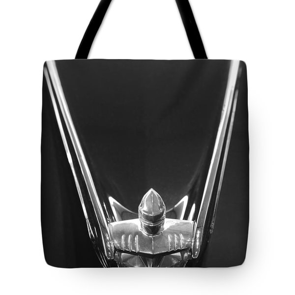 1956 Lincoln Premiere Convertible Hood Ornament 2 Tote Bag by Jill Reger