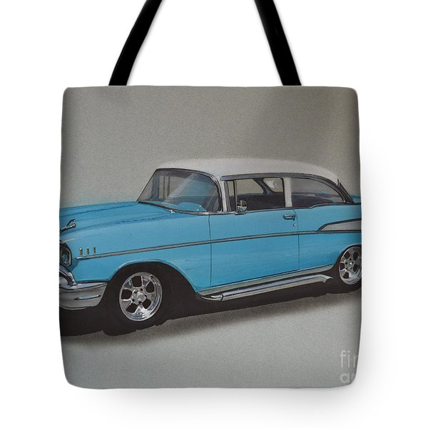 1957 Bel Air Tote Bag by Paul Kuras