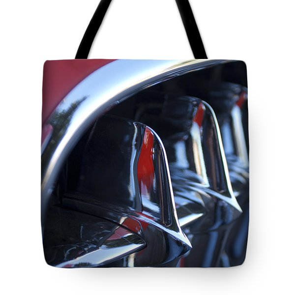 1957 Chevrolet Corvette Grille Tote Bag by Jill Reger