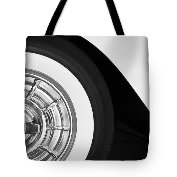 1957 Corvette Wheel Tote Bag by Jill Reger