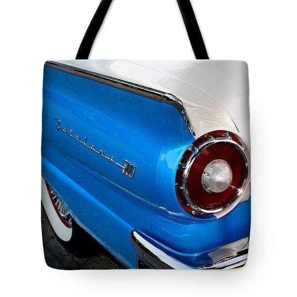 1957 Ford Fairlane 500 Tote Bag by Dorothy Menera