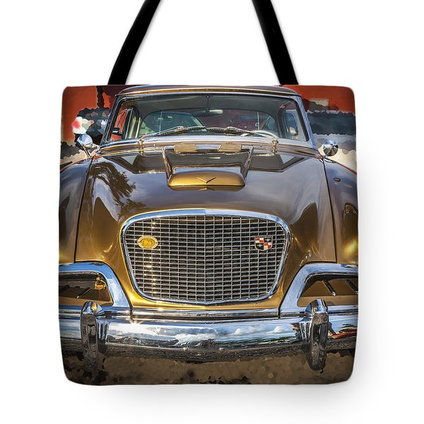 1957 Studebaker Golden Hawk  Tote Bag by Rich Franco
