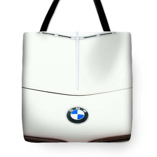 1958 Bmw 507 Roadster Hood Emblem Tote Bag by Jill Reger