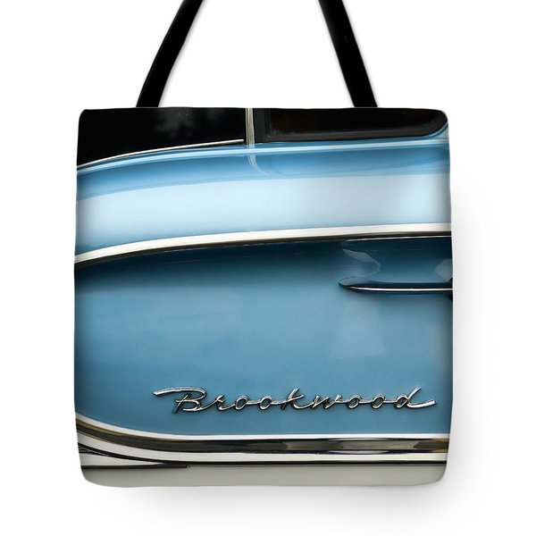 1958 Chevrolet Brookwood Station Wagon Tote Bag by Carol Leigh