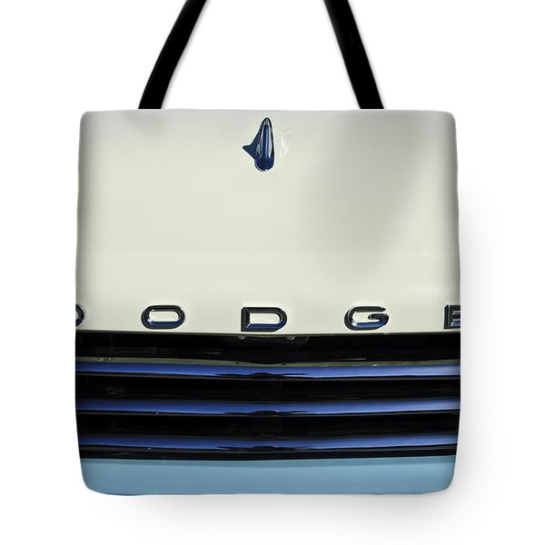 1958 Dodge Sweptside Truck Grille Tote Bag by Jill Reger