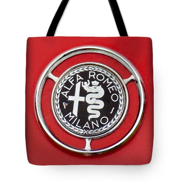 1959 Alfa-Romeo Giulietta Sprint Emblem Tote Bag by Jill Reger