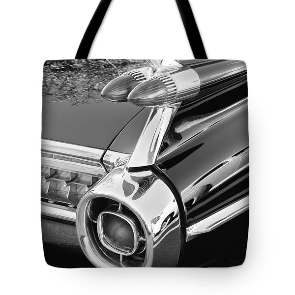 1959 Black and White Caddy Tote Bag by Rich Franco