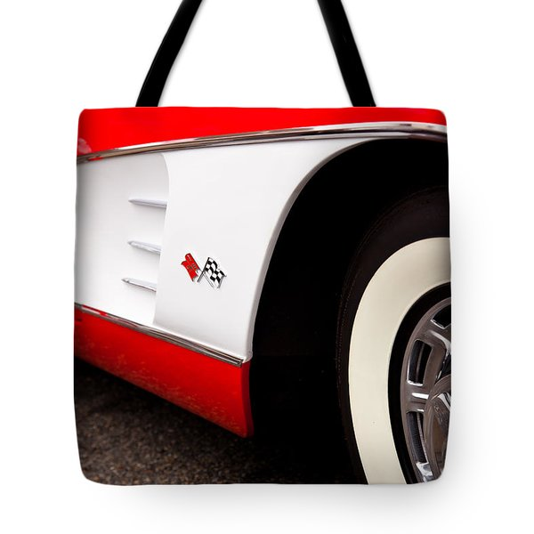 1959 Chevrolet Corvette Tote Bag by David Patterson