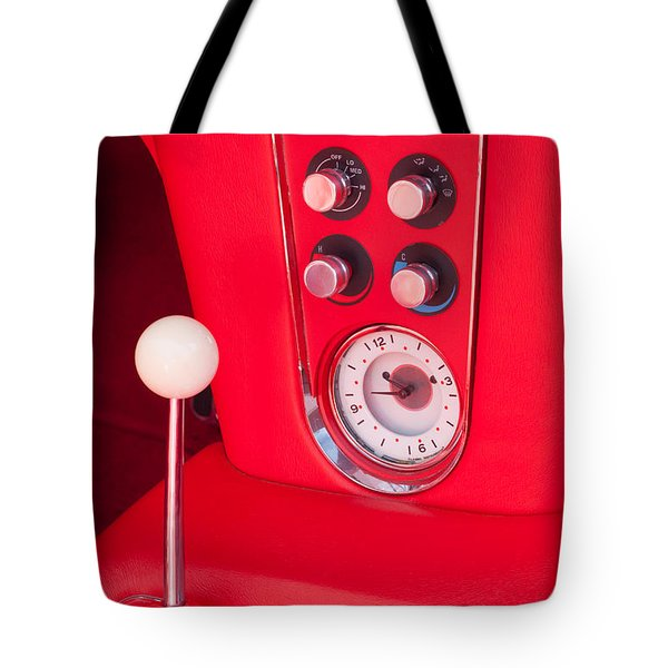 1960 Chevrolet Corvette Control Panel Tote Bag by Jill Reger