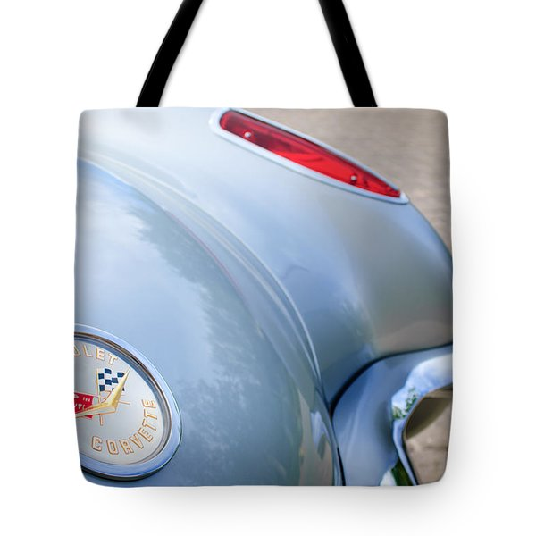 1960 Chevrolet Corvette Emblem - Taillight Tote Bag by Jill Reger