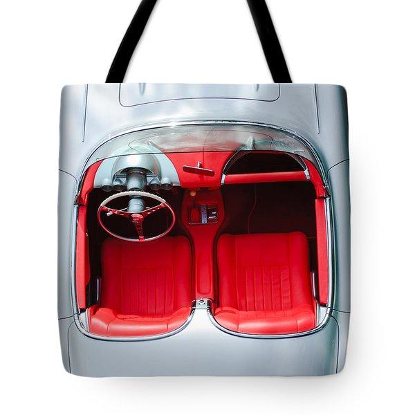 1960 Chevrolet Corvette Interior Tote Bag by Jill Reger